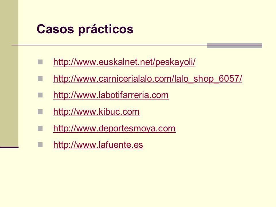 http://www.euskalnet.net/peskayoli/ http://www.carnicerialalo.com/lalo_shop_6057/ http://www.labotifarreria.com http://www.kibuc.com http://www.deport