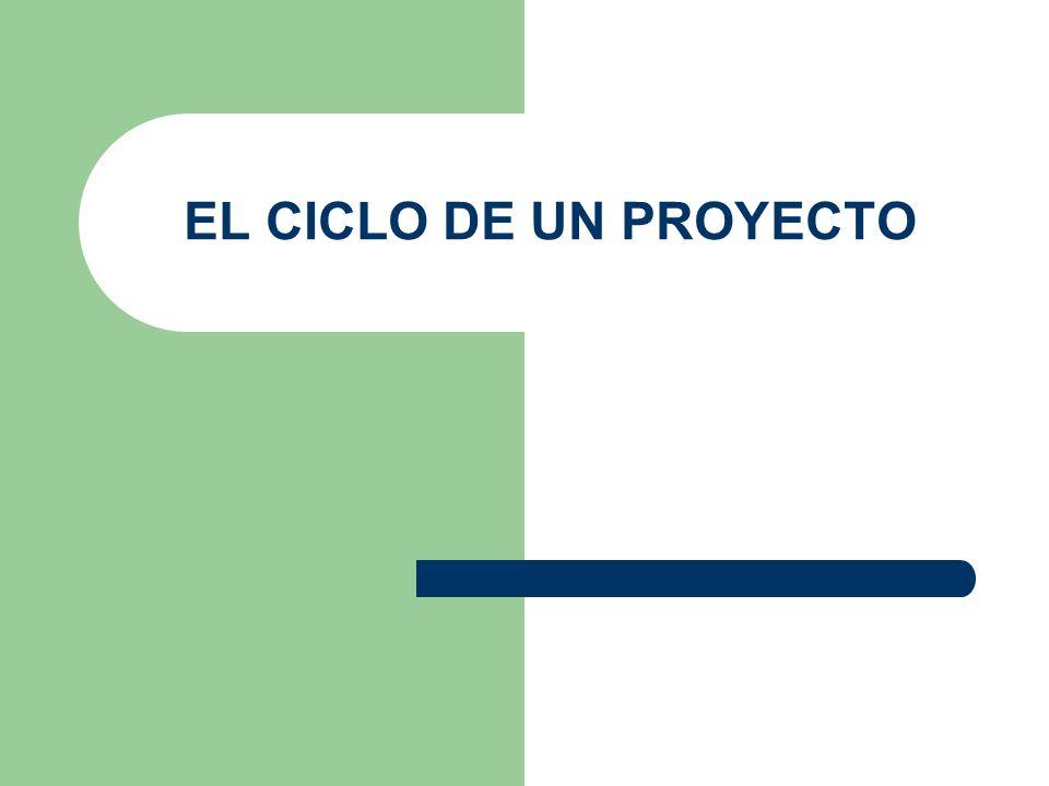 El ciclo de los proyectos Definición de objetivos Identificación de ideas de proyecto Diseño y formulación Análisis y viabilidad Ejecución Evaluación ex-post Aprobación