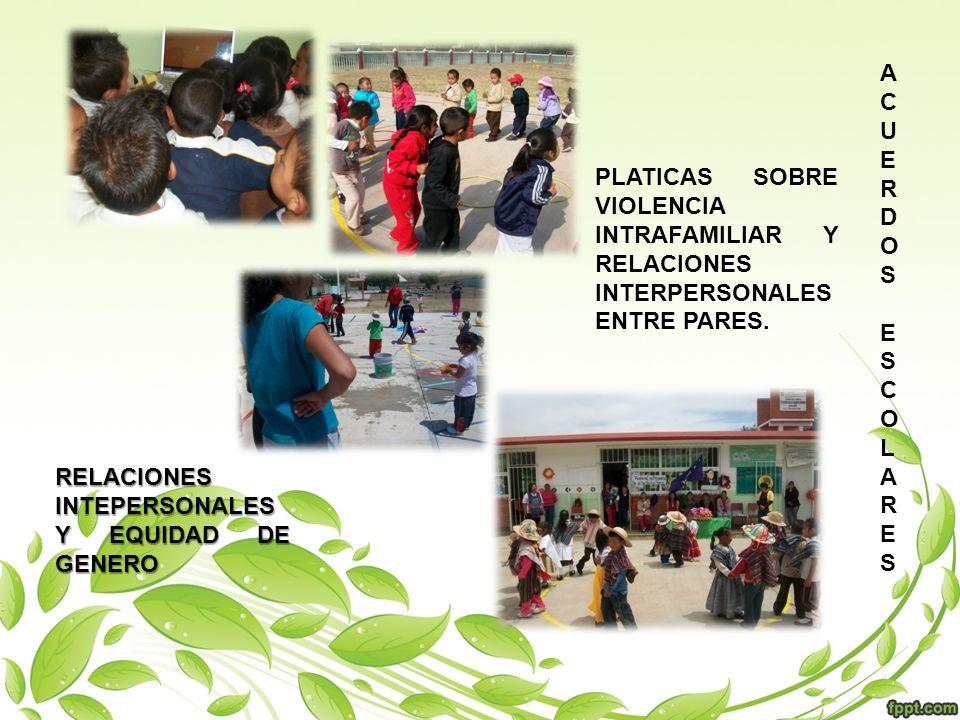 PLATICAS SOBRE VIOLENCIA INTRAFAMILIAR Y RELACIONES INTERPERSONALES ENTRE PADRES DE FAMILIA.
