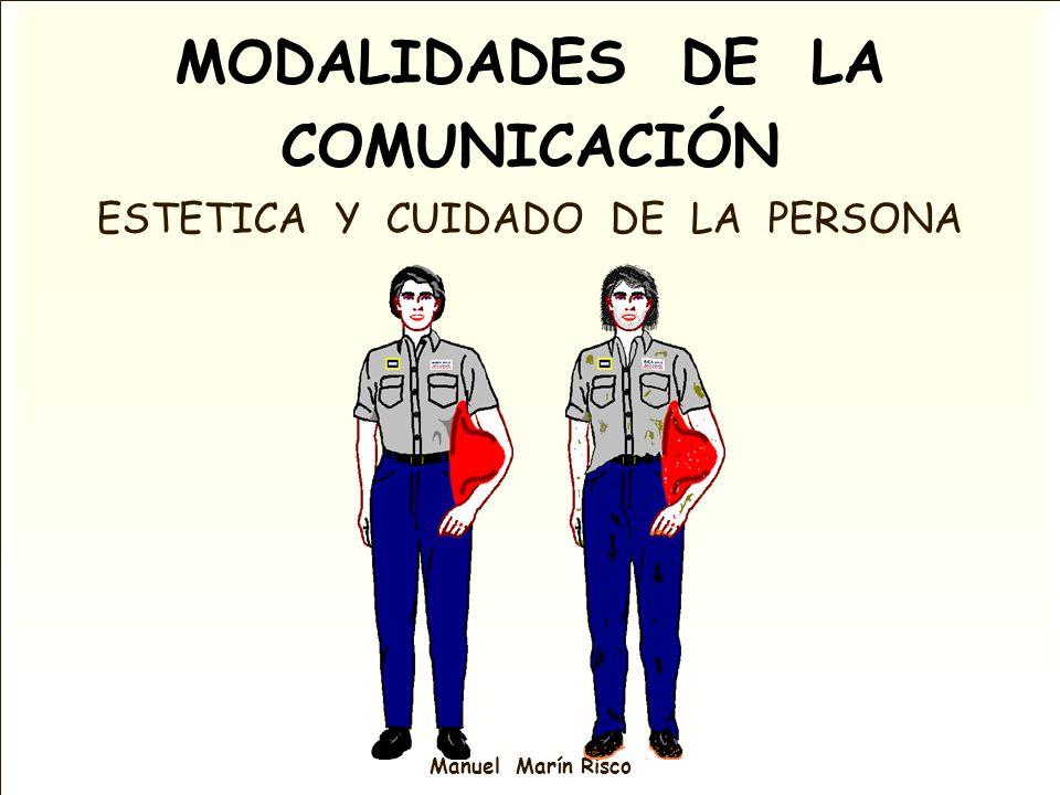 Manuel Marín Risco MODALIDADES DE LA COMUNICACIÓN ESTETICA Y CUIDADO DE LA PERSONA