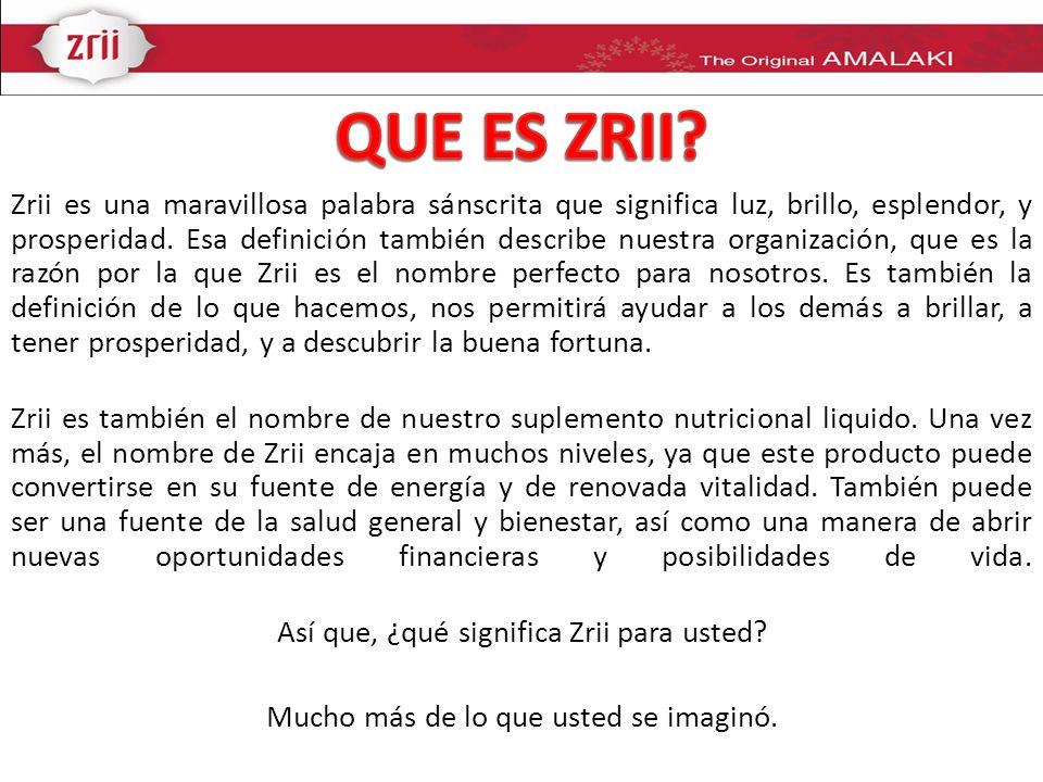 Zrii le ofrece muchos beneficios potenciales para la salud.