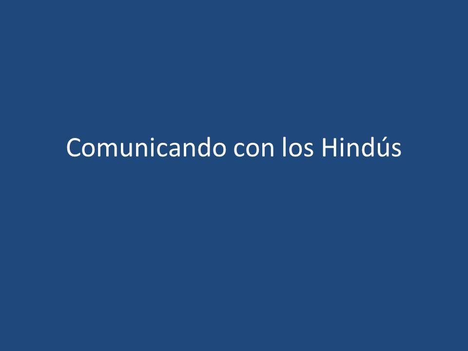 Comunicando con los Hindús