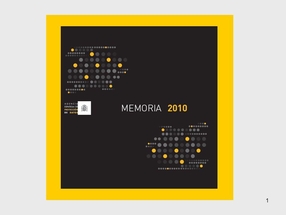 2 Memoria 2010: RECLAMACIONES Y TUTELAS DE DERECHOS INICIADAS Actuaciones de investigación (iniciadas por denuncias o a iniciativa del Director) Solicitudes de Tutela de los derechos de acceso, rectificación, cancelación y oposición