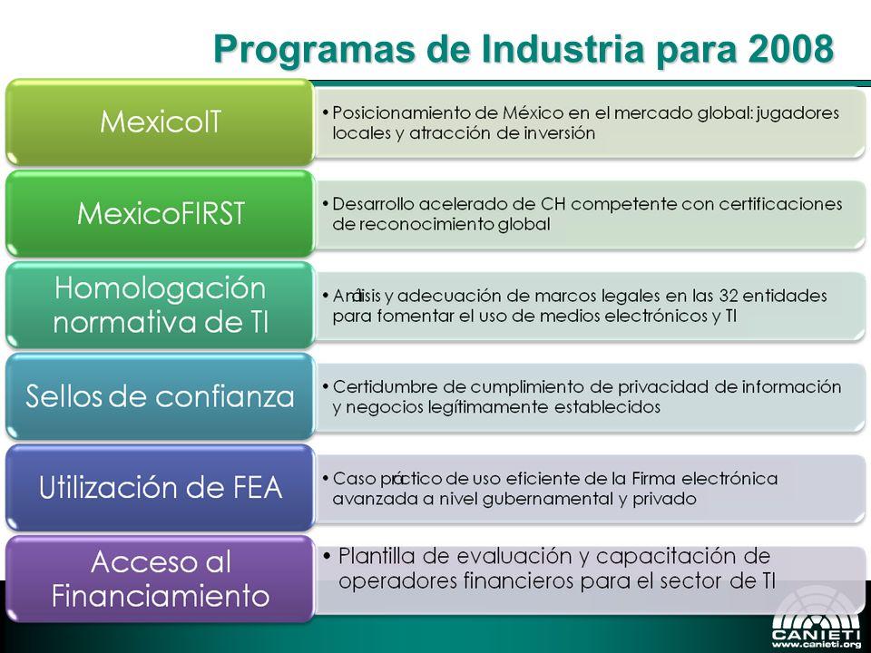 Programas de Industria para 2008