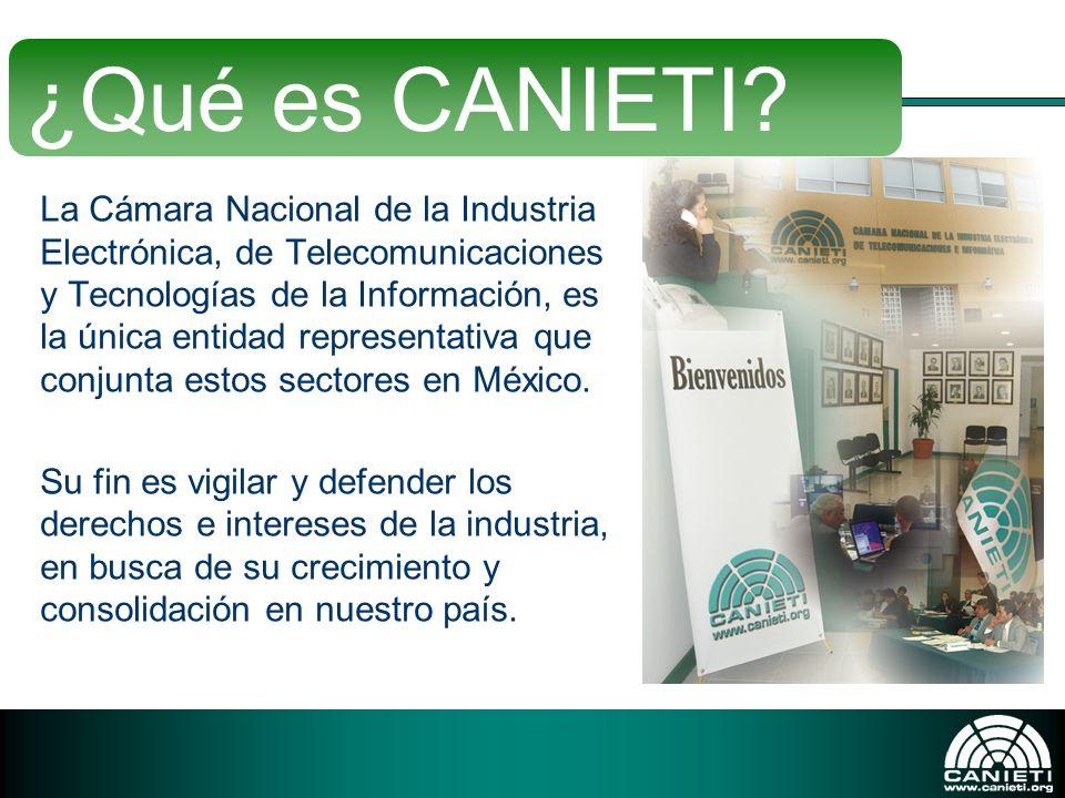 La Cámara Nacional de la Industria Electrónica, de Telecomunicaciones y Tecnologías de la Información, es la única entidad representativa que conjunta
