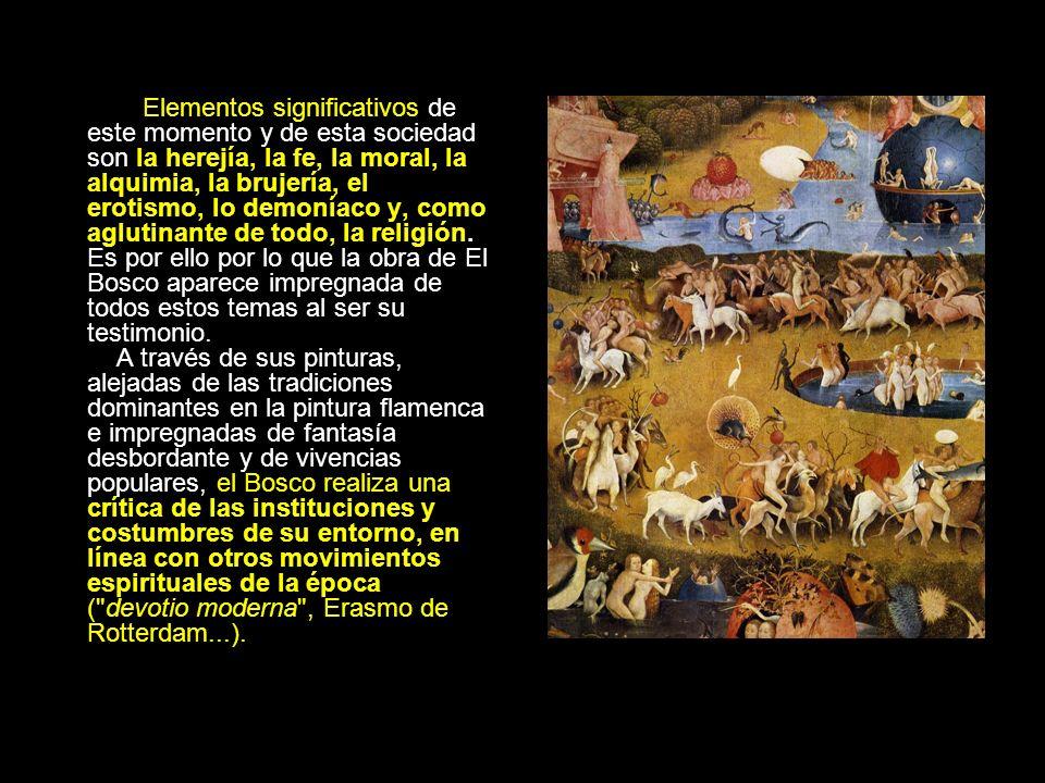 Elementos significativos de este momento y de esta sociedad son la herejía, la fe, la moral, la alquimia, la brujería, el erotismo, lo demoníaco y, co