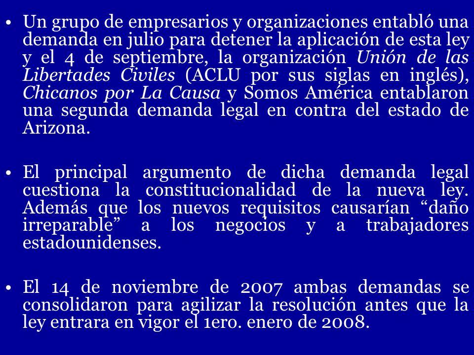 Un grupo de empresarios y organizaciones entabló una demanda en julio para detener la aplicación de esta ley y el 4 de septiembre, la organización Uni