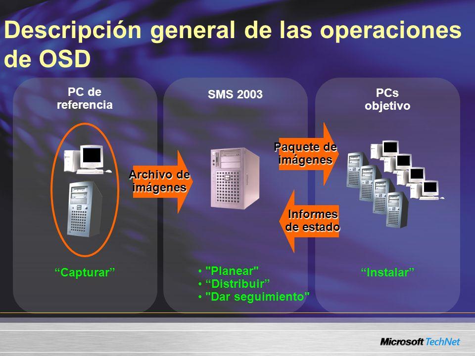 SMS 2003 Instalar PC de referencia Capturar Archivo de imágenes