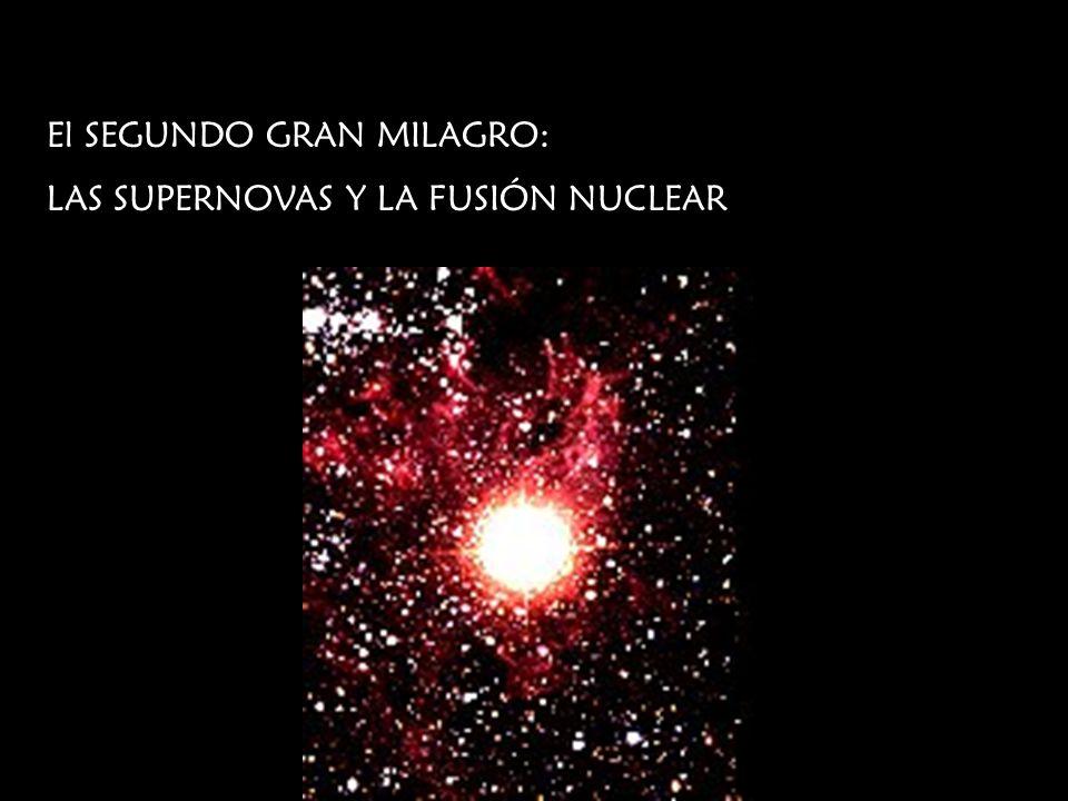El SEGUNDO GRAN MILAGRO: LAS SUPERNOVAS Y LA FUSIÓN NUCLEAR