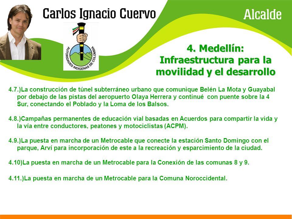 4. Medellín: Infraestructura para la movilidad y el desarrollo 4.7.)La construcción de túnel subterráneo urbano que comunique Belén La Mota y Guayabal