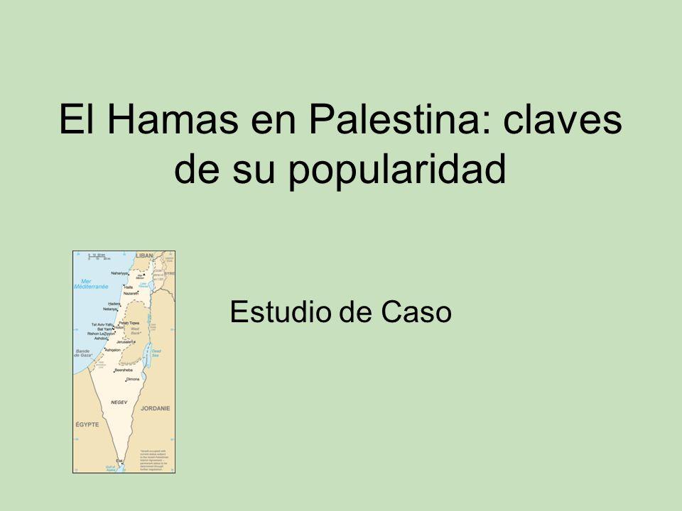 El Hamas en Palestina: claves de su popularidad Estudio de Caso