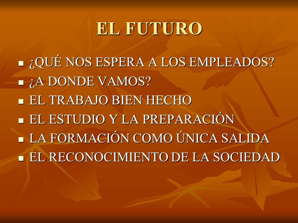 EL FUTURO ¿QUÉ NOS ESPERA A LOS EMPLEADOS. ¿QUÉ NOS ESPERA A LOS EMPLEADOS.