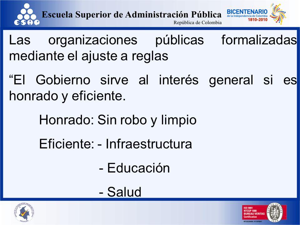 La base del sistema Burocrático es el modelo de supervisión del sector privado Costes decrecientes Control de costos Sistemas contables Centralización de presupuestos Compras centralizadas