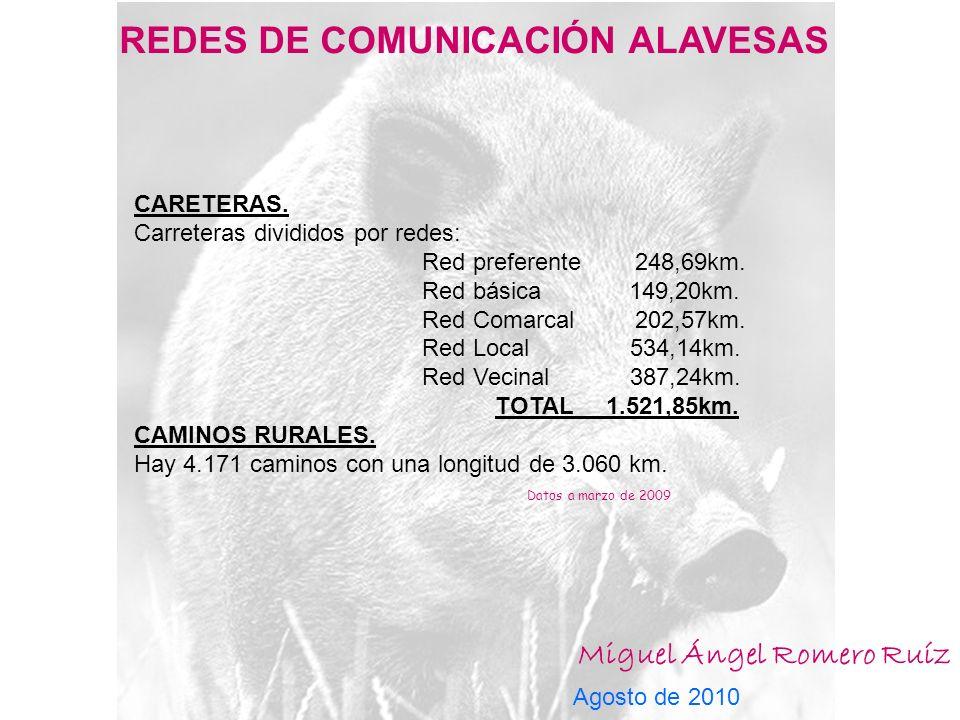 REDES DE COMUNICACIÓN ALAVESAS Miguel Ángel Romero Ruíz Agosto de 2010 CARETERAS.