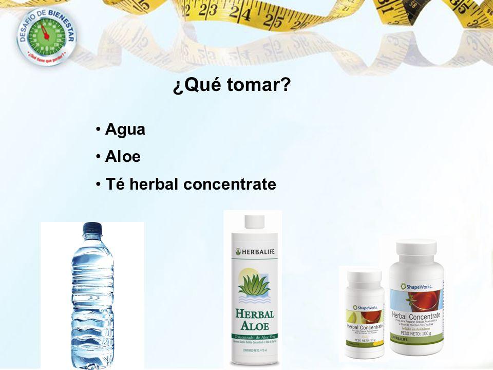 ¿Qué tomar? Agua Aloe Té herbal concentrate