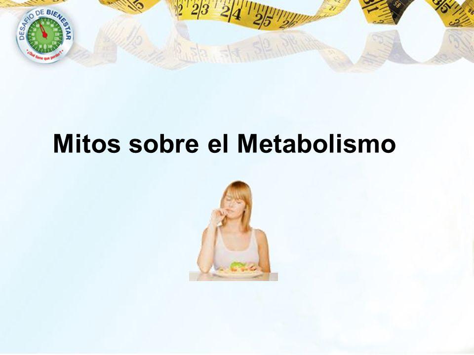 Mitos sobre el Metabolismo