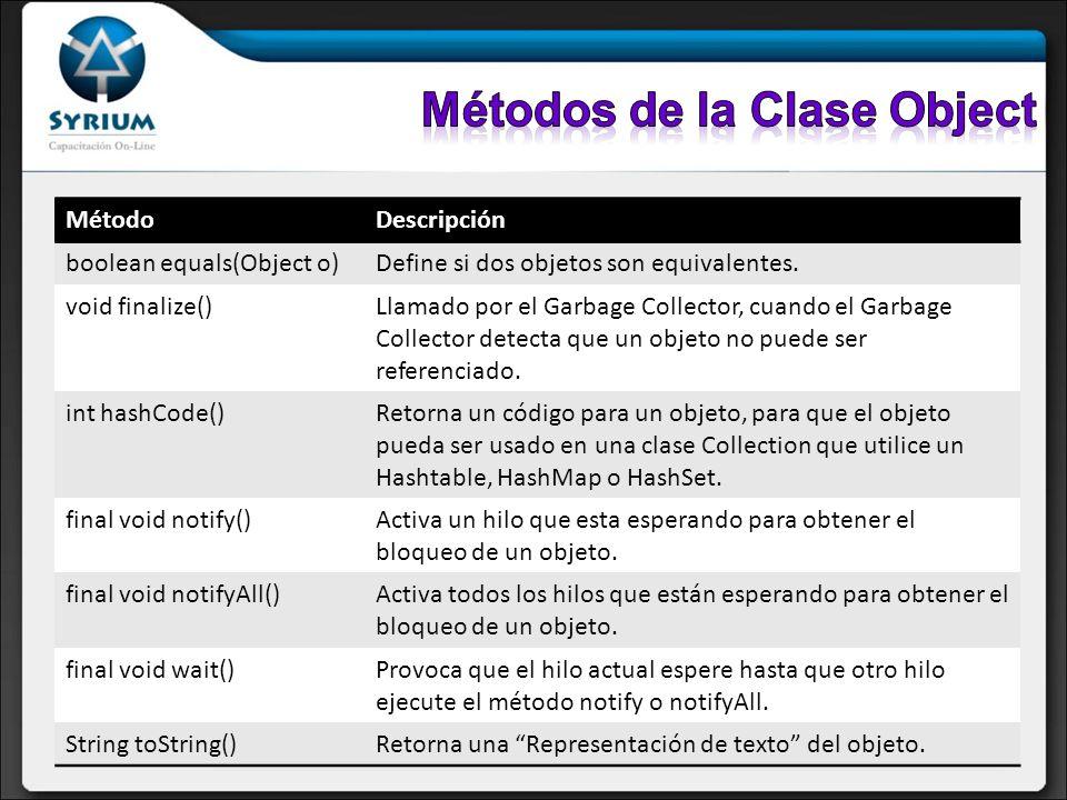 Qué es java.lang.Clase Object y sus características Wrapper Classes: qué son.