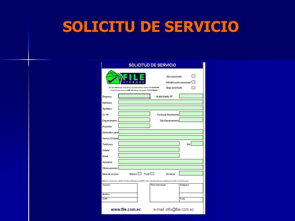 SOLICITU DE SERVICIO