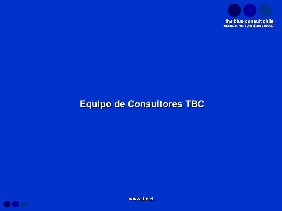management consultancy group the blue consult chile www.tbc.cl Equipo de Consultores TBC