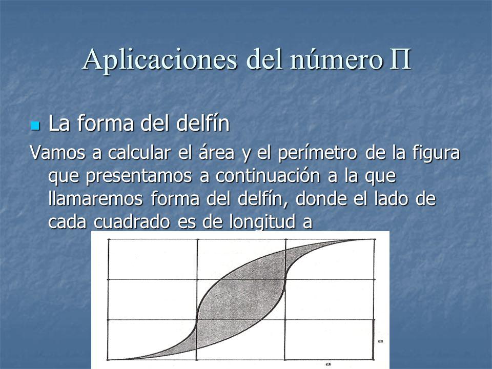 Aplicaciones del número Π La forma del delfín La forma del delfín Vamos a calcular el área y el perímetro de la figura que presentamos a continuación