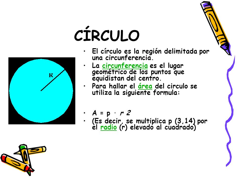 CÍRCULO El círculo es la región delimitada por una circunferencia. La circunferencia es el lugar geométrico de los puntos que equidistan del centro.ci