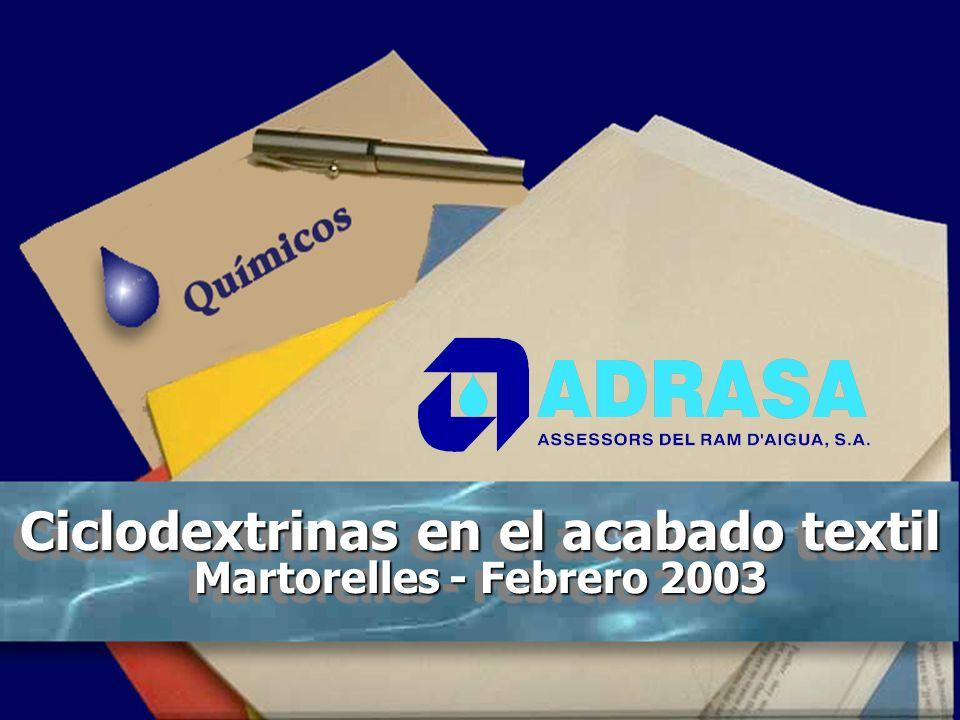 ADRA, S.A. - Dr. Cuní Ventajas Mejora de la hidrofilidad. En especial en géneros de acabado no plancha. Mejor transporte de humedad (efecto de bienest