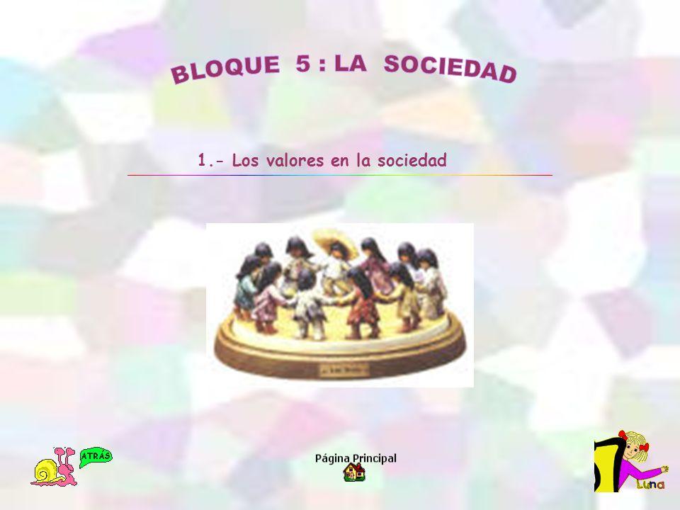 1.- Los valores en la sociedad