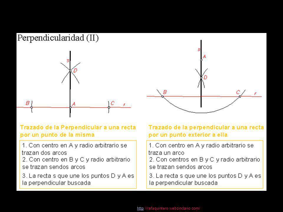 httphttp://rafaquintero.webcindario.com/ 2 Trazados fundamentales en el plano 11 Dibujo Técnico 2.º BACHILLERATO Eje radical de dos circunferencias Eje radical de dos circunferencias Propiedad: Eje radical de dos circunferencias secantes: es la recta que une los puntos A y B de intersección de las circunferencias El eje radical es siempre una recta perpendicular a la recta de los centros de las circunferencias Eje radical de dos circunferencias tangentes: es la recta tangente común a ambas circunferencias Eje radical de dos circunferencias exteriores: 1.