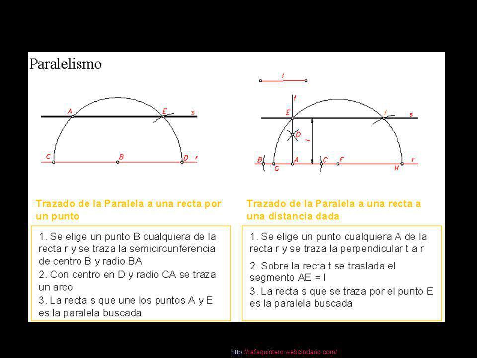 httphttp://rafaquintero.webcindario.com/ Con centro en O´ se traza un arco de circunferencia que pase por Ay B.