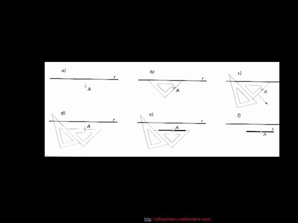 httphttp://rafaquintero.webcindario.com/ Hallar dos segmentos conociendo su diferencia y el segmento media proporcional entre ambos Tomando como diámetro la diferencia de segmentos M N conocida, trazar una circunferencia así como una tangente (perpendicular a M N), por uno de los extremos M del diámetro, transportando sobre la misma la longitud A M de la media proporcional conocida.