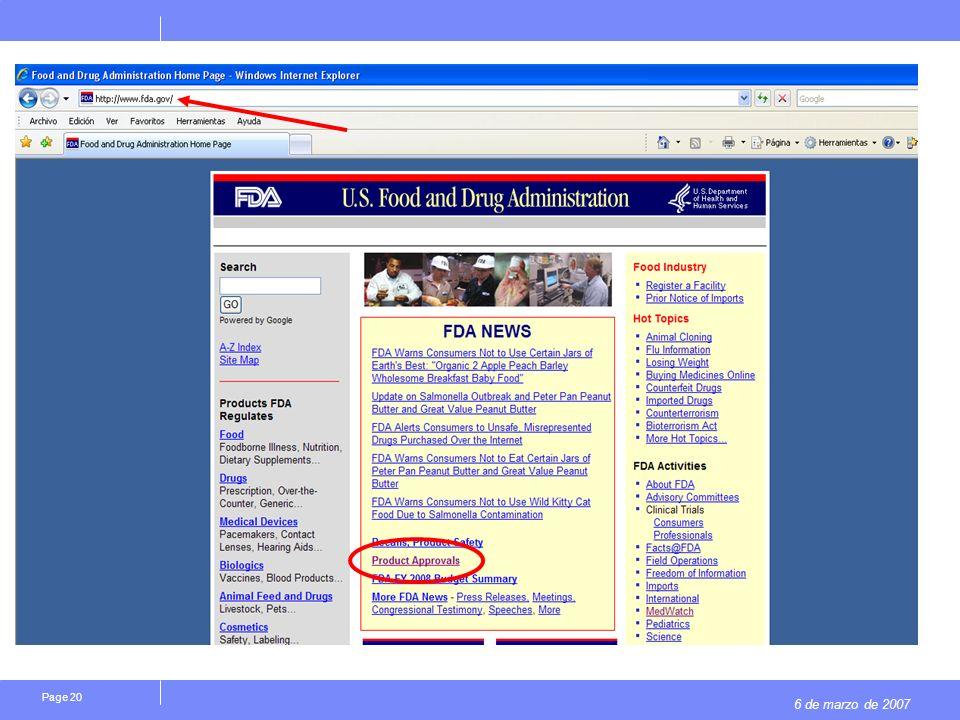 6 de marzo de 2007 Page 20