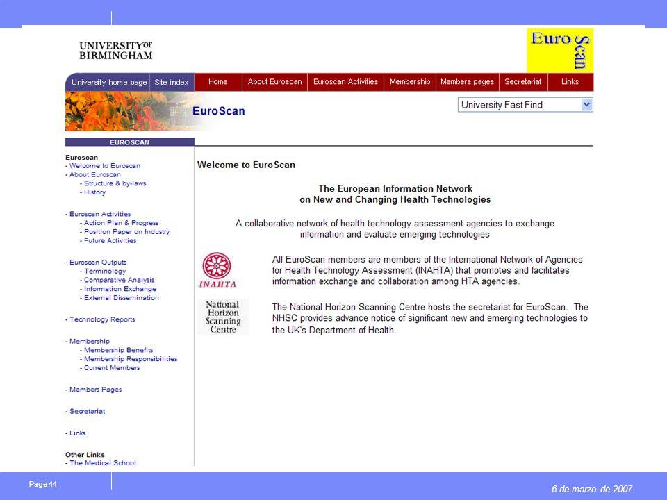 6 de marzo de 2007 Page 44
