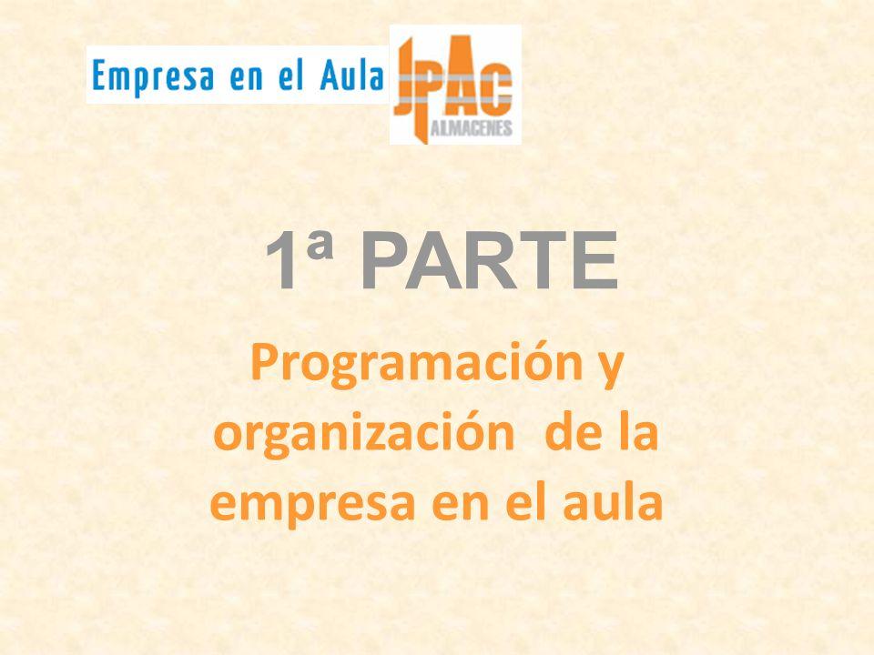 1ª PARTE Programación y organización de la empresa en el aula