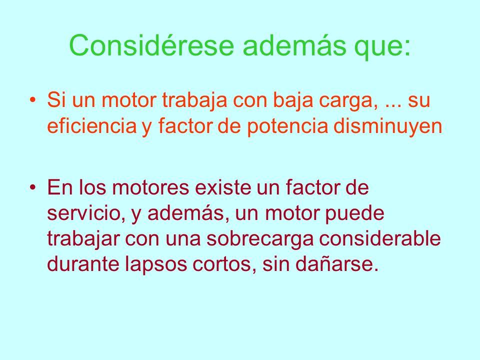 Selección Suministro de energía Par y velocidad requeridos por la carga Requerimientos de arranque y aceleración Ciclo de trabajo Factores ambientales