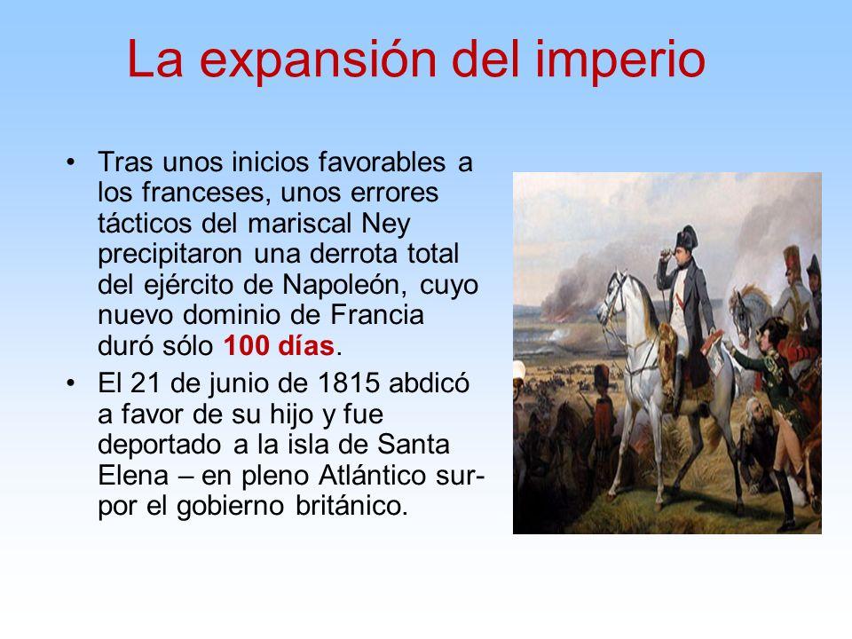 Tras unos inicios favorables a los franceses, unos errores tácticos del mariscal Ney precipitaron una derrota total del ejército de Napoleón, cuyo nue