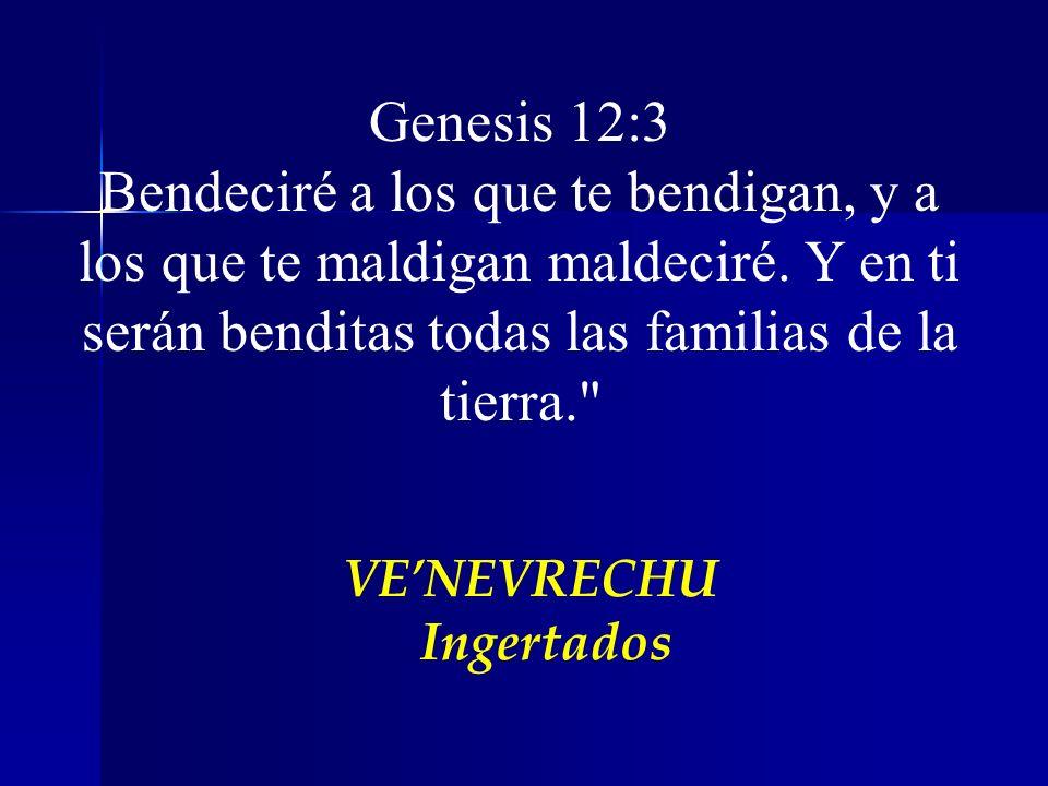 VENEVRECHU Ingertados Genesis 12:3 Bendeciré a los que te bendigan, y a los que te maldigan maldeciré. Y en ti serán benditas todas las familias de la
