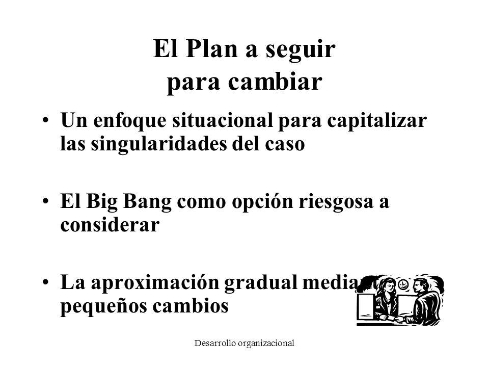 Desarrollo organizacional El Plan a seguir para cambiar Un enfoque situacional para capitalizar las singularidades del caso El Big Bang como opción ri