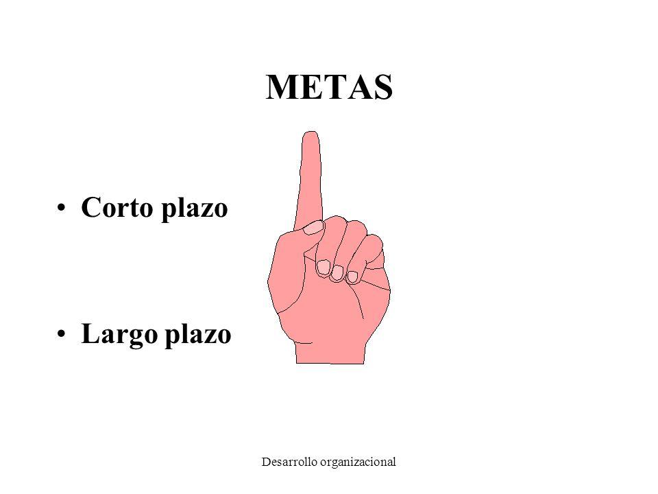 Desarrollo organizacional METAS Corto plazo Largo plazo