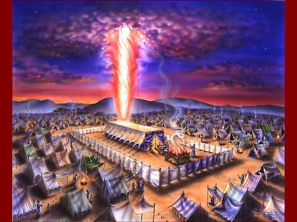 El Tabernáculo Los mandamientos acerca del tabernáculo 25:1-8, 23-27:21 30:1-10, 17-29, 34-38 31:1-11 (El cumplimiento--35:4-36:38, 37:10- 38:31) Inspección, configuración, y dedicación del templo 39:32-40:38 Las ofrendas del tabernáculo.