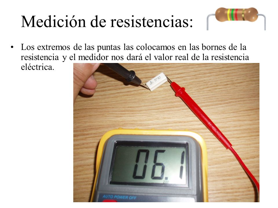 Medición de voltajes Existen dos tipos de voltajes elécticos: –Corriente continua (diagrama amarillo) –Corriente alterna (sinusoidal)