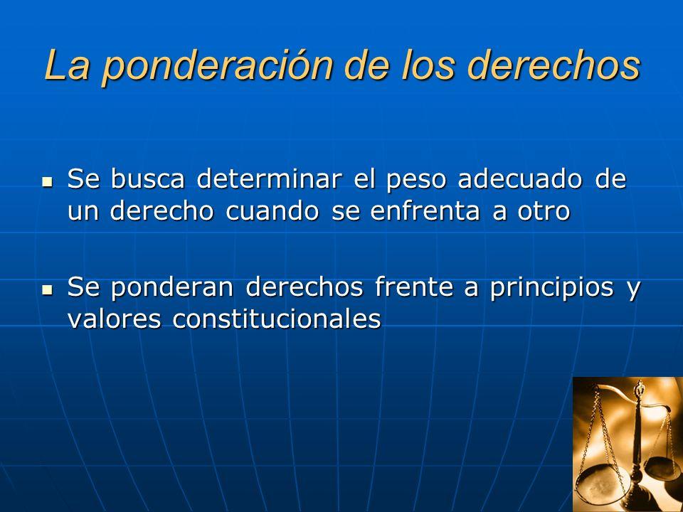 El nuevo orden constitucional Los principios Los principios Los valores Los valores Los derechos de la parte dogmática Los derechos de la parte dogmát