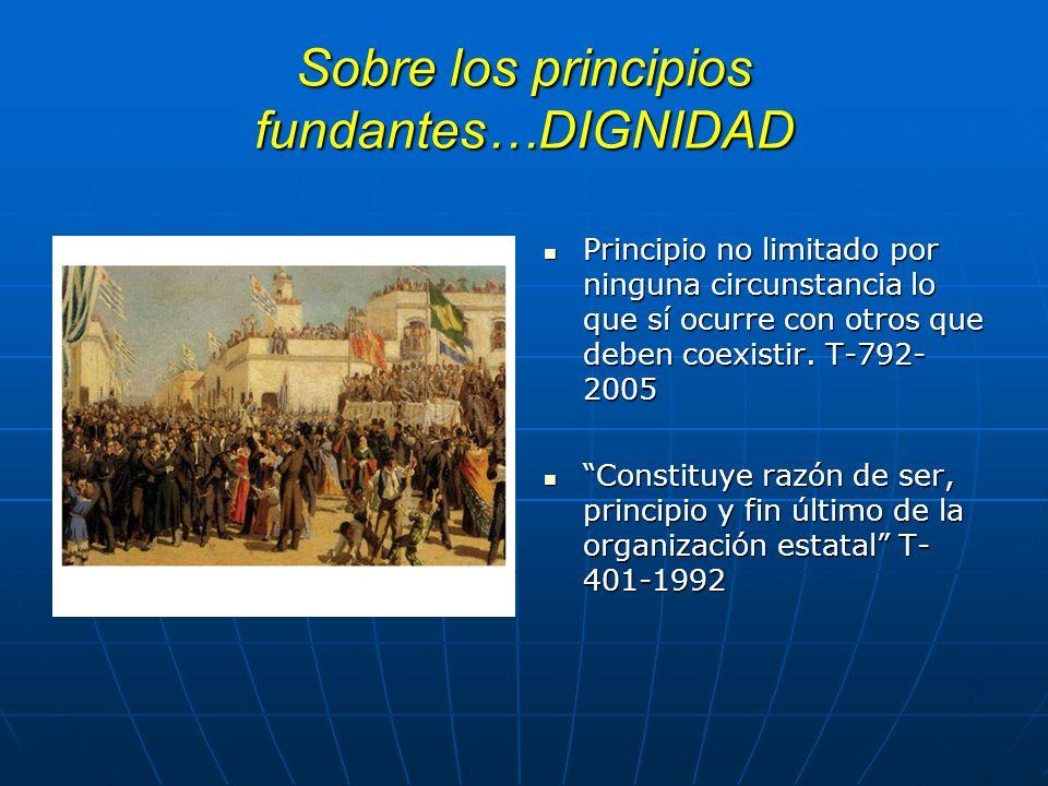 Función de los principios fundantes: Restringen el espacio de interpretación del operador jurídico Restringen el espacio de interpretación del operado