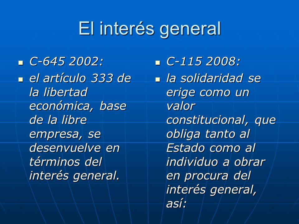 Interés General Interés General Con carácter jurídicamente abstracto e indeterminado Con carácter jurídicamente abstracto e indeterminado, Conlleva la