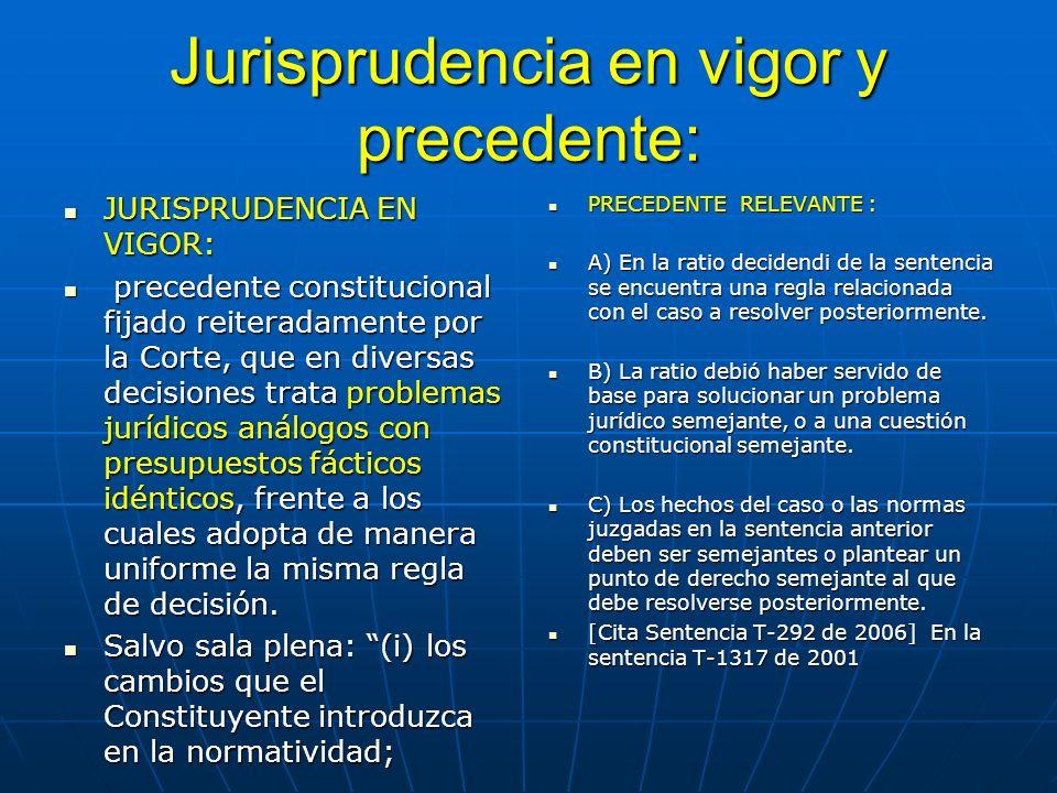 La función de los precedentes auto 097 2011 sala plena - reglas judiciales emanadas de la interpretación de una norma superior para la solución de un