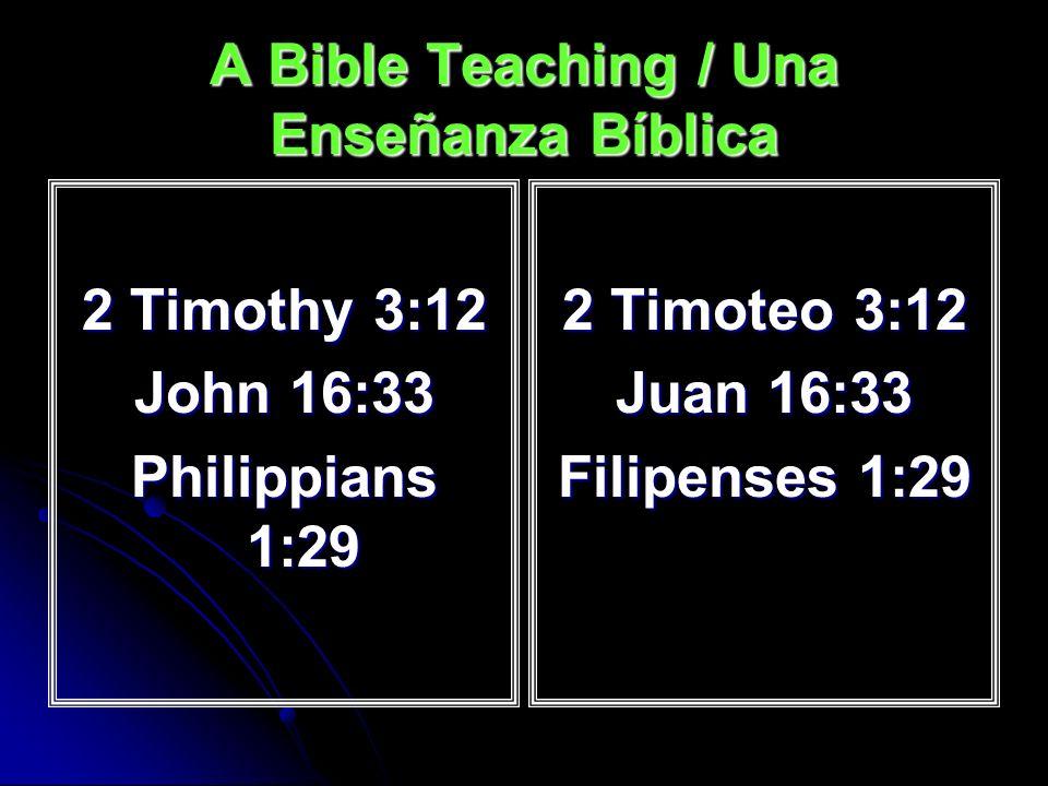 The Bible Teaches This / La Biblia Enseña Esto Psa.
