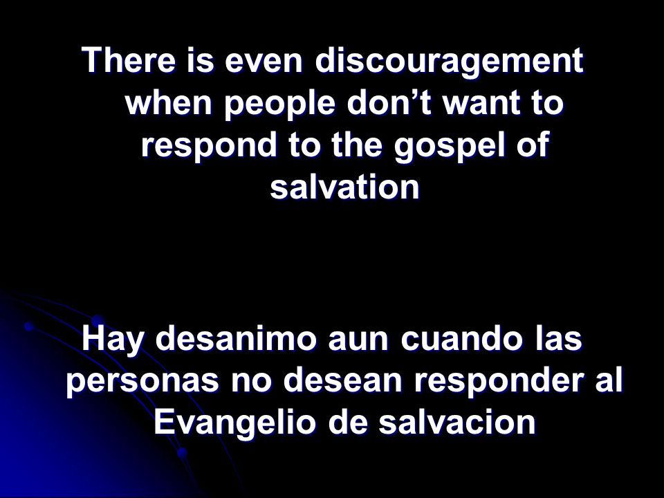 Our Enemy / Nuestro Enemigo Satan uses many things to discourage people.