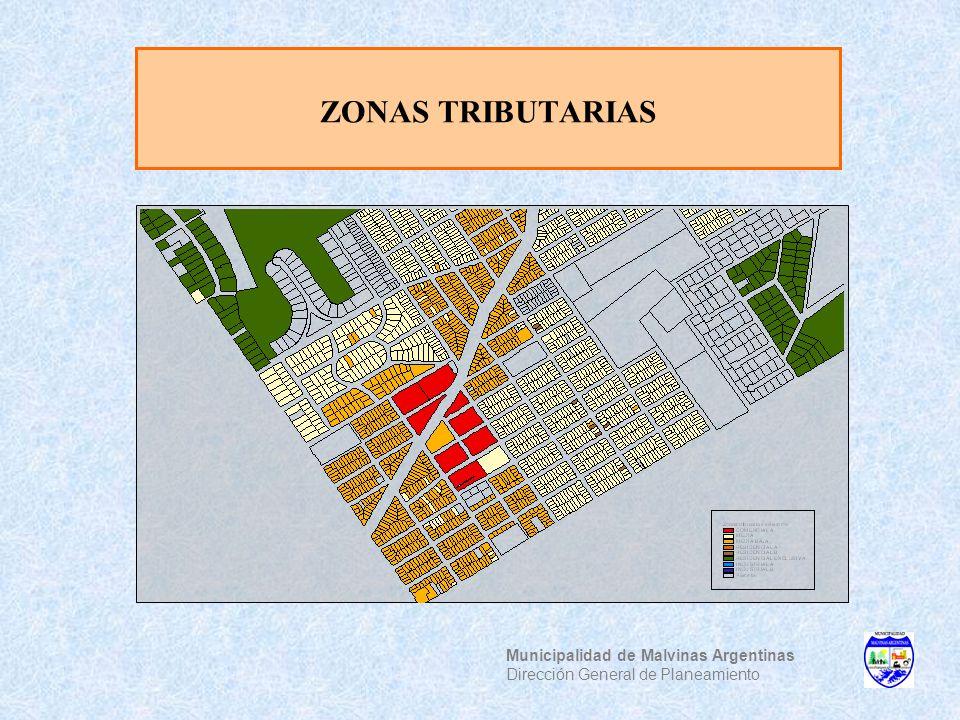 ZONAS TRIBUTARIAS Municipalidad de Malvinas Argentinas Dirección General de Planeamiento