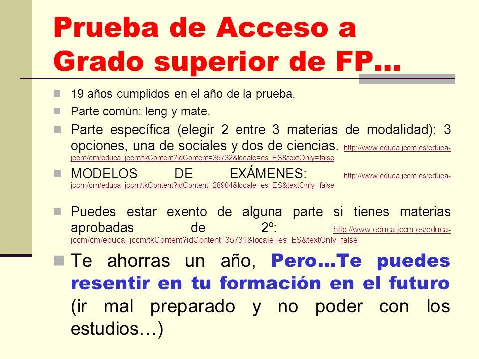 RAMAS DE ESTUDIOS UNIVERSIDAD FAMILIAS DE FP CIENCIAS SOCIALES Y JURÍDICAS: Magisterio, Educación Social… - Actividades Físicas y Deportivas.