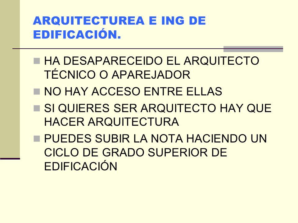 Ing en tecnologías Industriales ESPECIALIDAD MECÁNICA e Ing Mecánica en la UPM de Madrid Se imparten en distintas escuelas: la 1ª se imparte en la ant