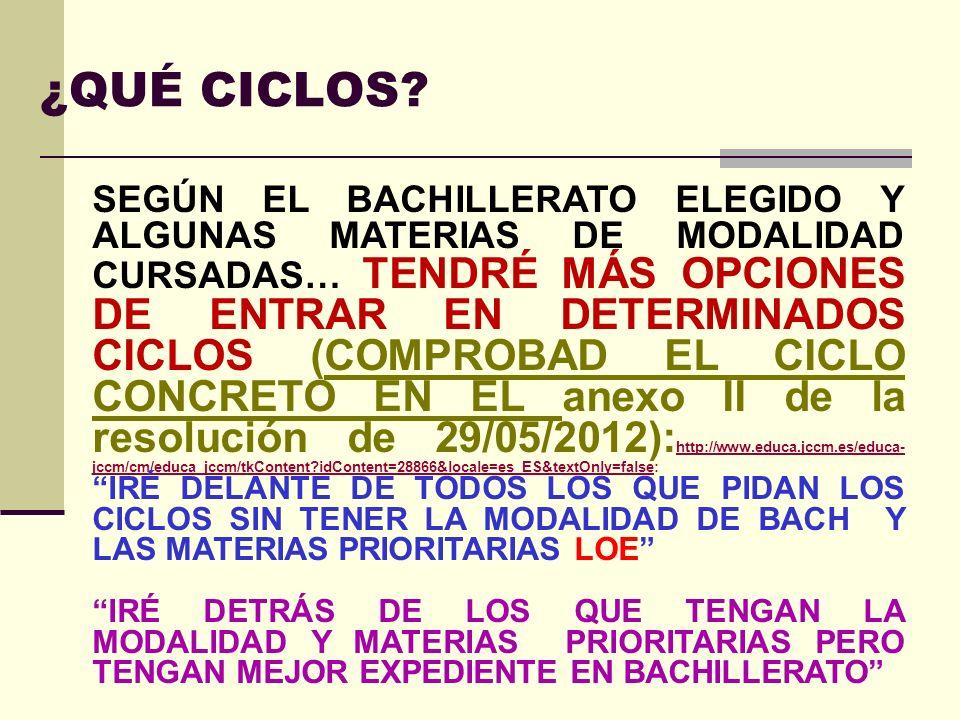 EJEMPLO PERIODISMO : TODAS VALEN 0,1 EN CASTILLA LA MANCHA TODAS LAS MATERIAS DE HUMANIDADES Y CIENCIAS SOCIALES Y LA MAYORÍA DE CT VALEN 0,2 EN MADRID -SOLO TIENES QUE VALORAR LAS POSIBLES NOTAS QUE SAQUES.